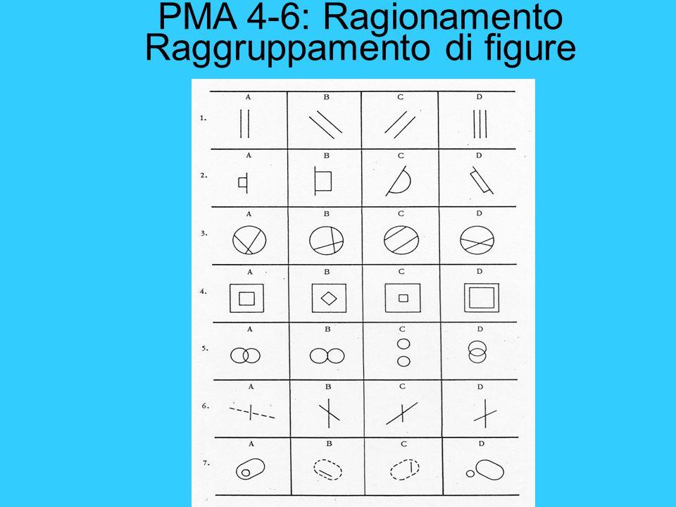 PMA 4-6: Ragionamento Raggruppamento di figure