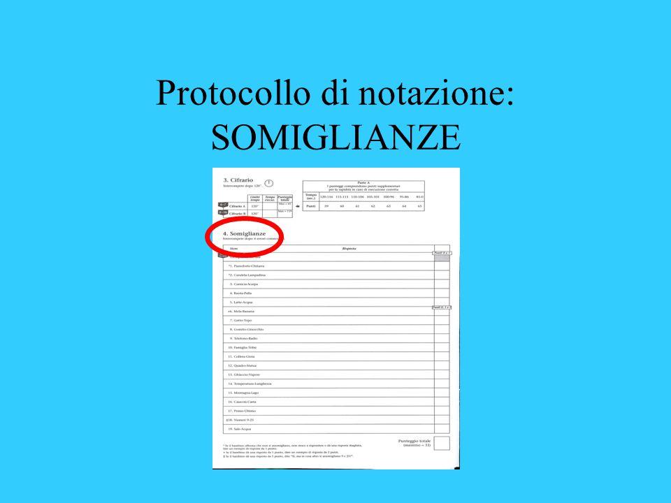 Protocollo di notazione: SOMIGLIANZE
