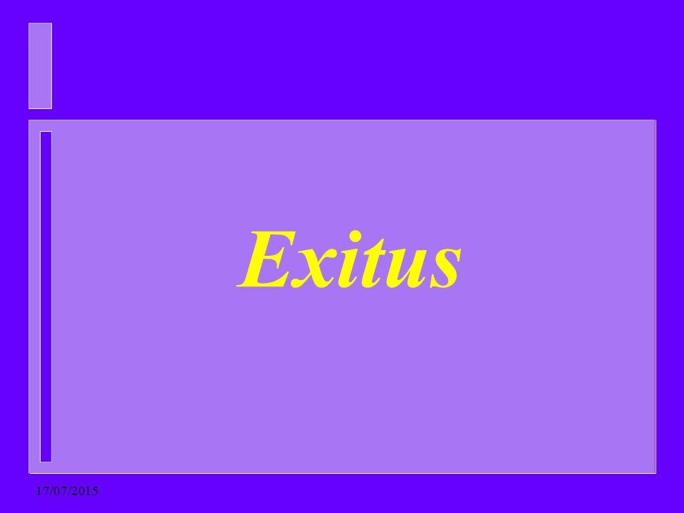 Exitus 17/07/2015