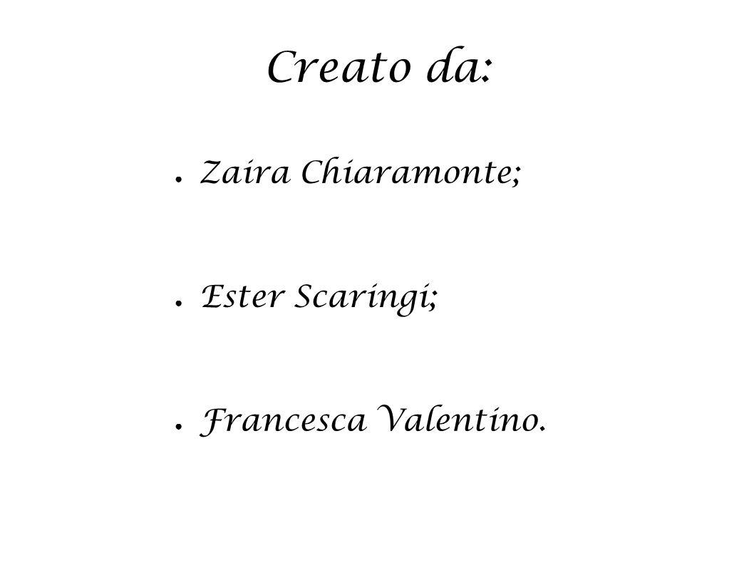 Creato da: ●Z●Zaira Chiaramonte; ● Ester Scaringi; ● Francesca Valentino.