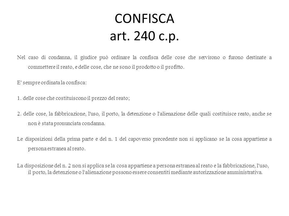 CONFISCA art. 240 c.p.