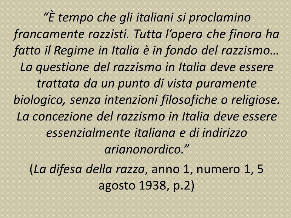È tempo che gli italiani si proclamino francamente razzisti.