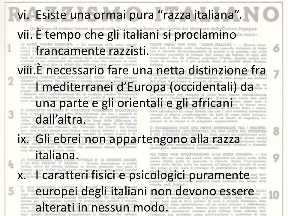vi.Esiste una ormai pura razza italiana .