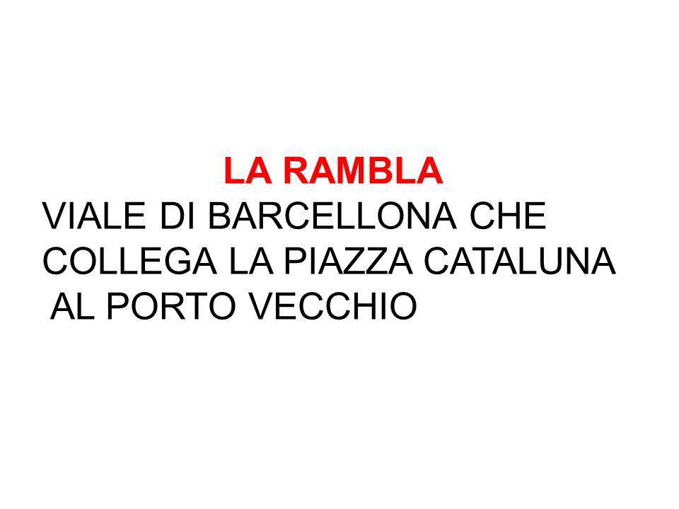 LA RAMBLA VIALE DI BARCELLONA CHE COLLEGA LA PIAZZA CATALUNA AL PORTO VECCHIO