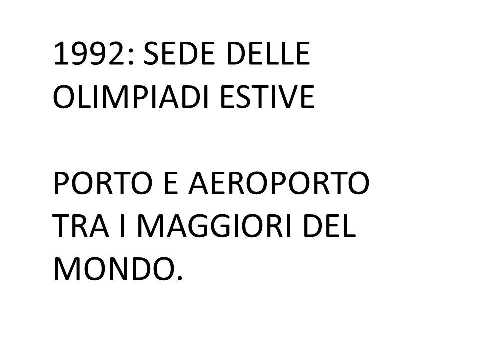 1992: SEDE DELLE OLIMPIADI ESTIVE PORTO E AEROPORTO TRA I MAGGIORI DEL MONDO.