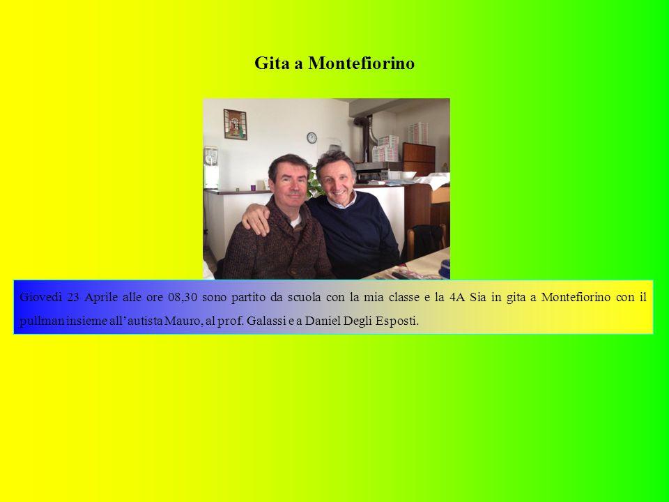 Gita a Montefiorino Giovedì 23 Aprile alle ore 08,30 sono partito da scuola con la mia classe e la 4A Sia in gita a Montefiorino con il pullman insieme all'autista Mauro, al prof.