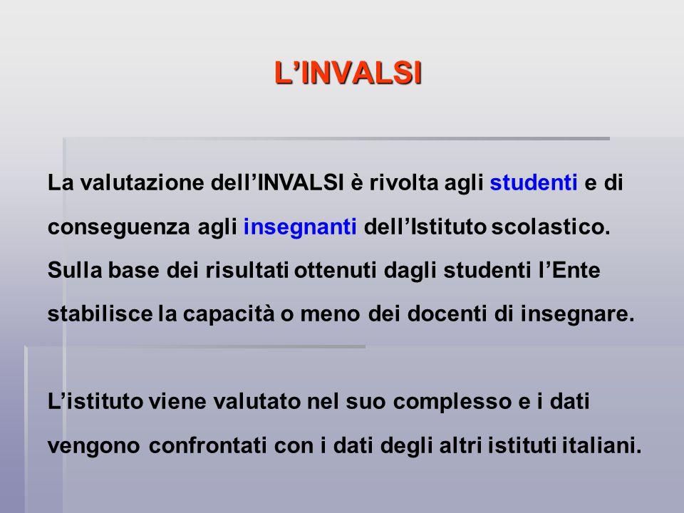 L'INVALSI Attualmente le prove INVALSI vengono sottoposte solamente agli studenti delle classi seconde degli istituti superiori.