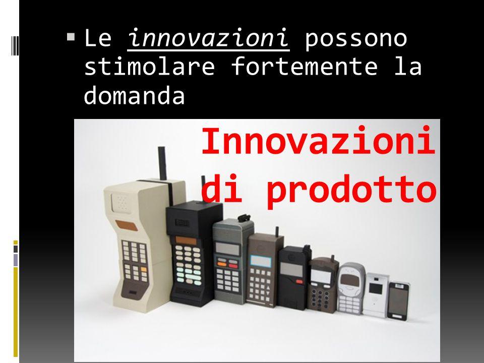 LLe innovazioni possono stimolare fortemente la domanda Innovazioni di prodotto