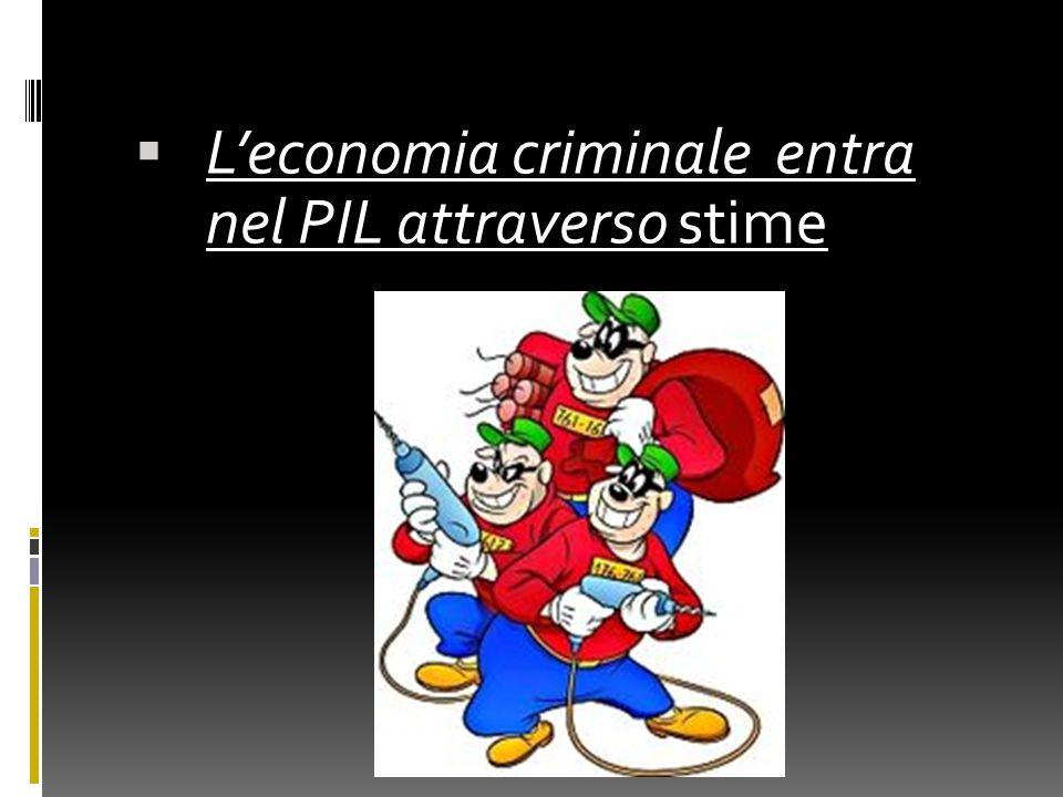 LL'economia criminale entra nel PIL attraverso stime