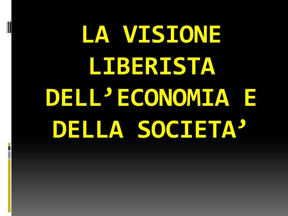 LA VISIONE LIBERISTA DELL'ECONOMIA E DELLA SOCIETA'