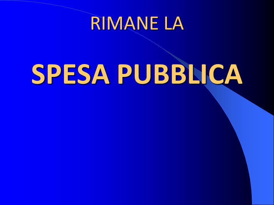 RIMANE LA SPESA PUBBLICA