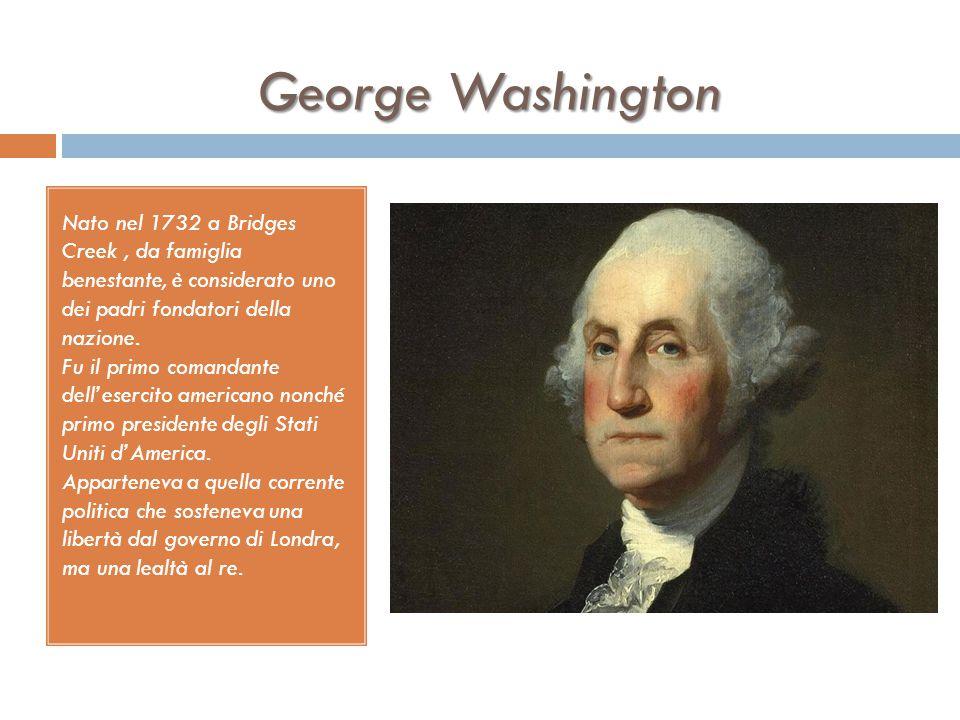 INSURREZIONE DELLE COLONIE  Su proposta della Virginia viene convocato un congresso continentale a Filadelfia nel 1774 (vi aderiscono tutti esclusa l
