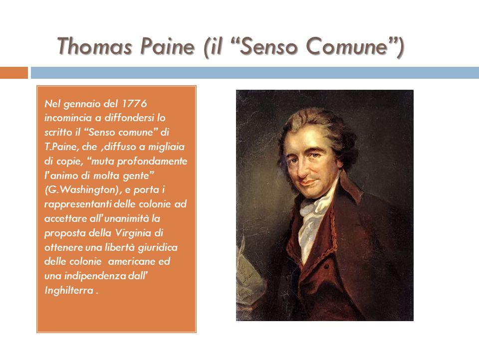I TRE GRUPPI POLITICI DELLA RIVOLUZIONE (2)  Nel 1776 vi è l'alleanza tra i patrioti e i moderati, a causa di preoccupazioni di ordine sociale  Gli