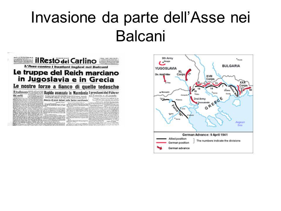 Invasione da parte dell'Asse nei Balcani