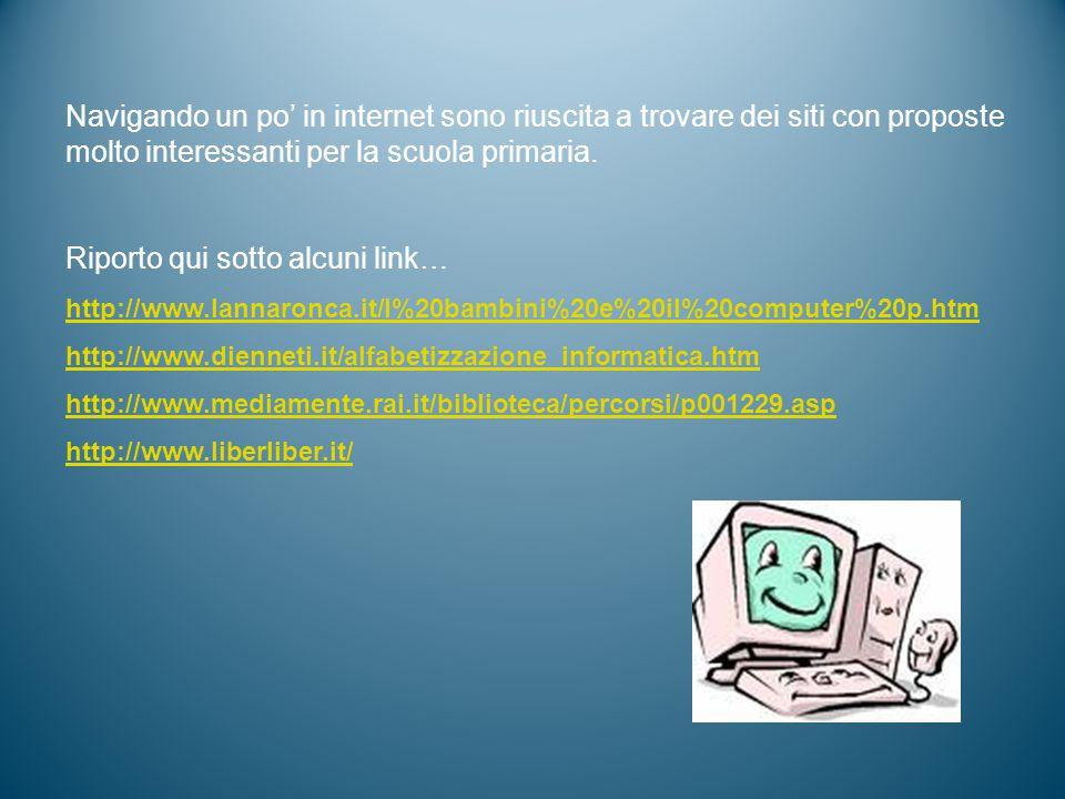 Navigando un po' in internet sono riuscita a trovare dei siti con proposte molto interessanti per la scuola primaria.