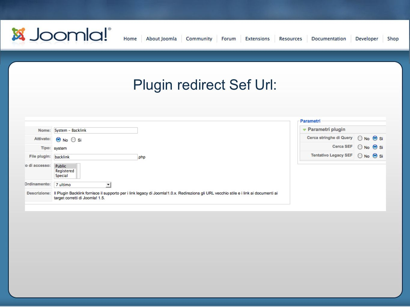 Plugin redirect Sef Url: