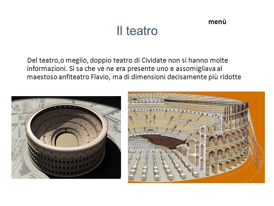 Il teatro Del teatro,o meglio, doppio teatro di Cividate non si hanno molte informazioni.