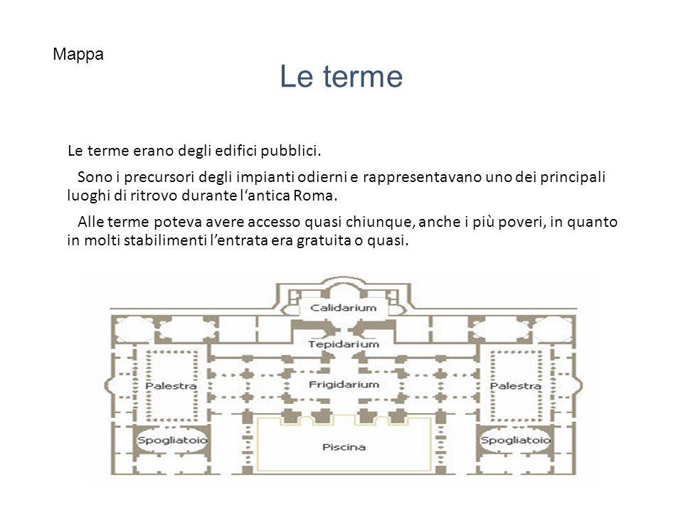 Le terme Le terme erano degli edifici pubblici.