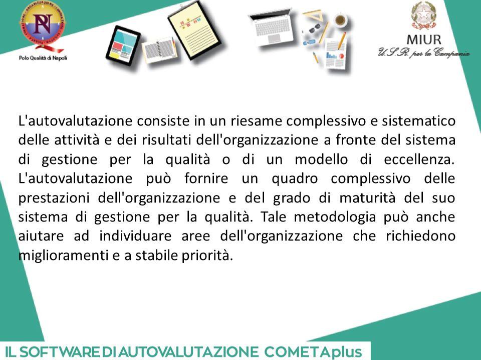 L autovalutazione consiste in un riesame complessivo e sistematico delle attività e dei risultati dell organizzazione a fronte del sistema di gestione per la qualità o di un modello di eccellenza.