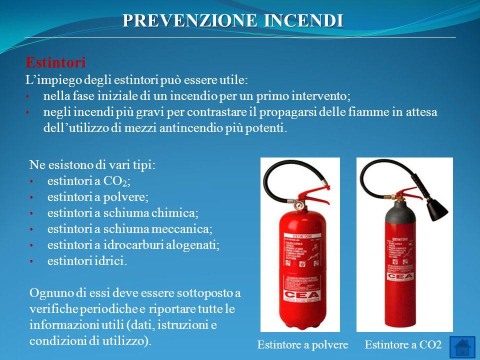 Estintori L'impiego degli estintori può essere utile: nella fase iniziale di un incendio per un primo intervento; negli incendi più gravi per contrast