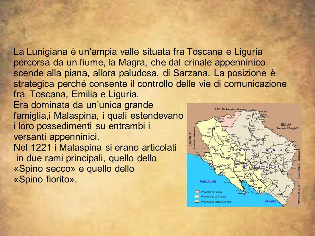 La Lunigiana è un'ampia valle situata fra Toscana e Liguria percorsa da un fiume, la Magra, che dal crinale appenninico scende alla piana, allora palu