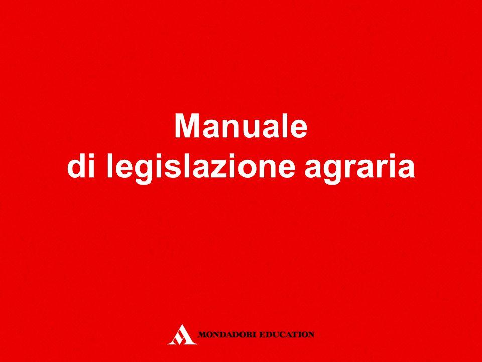 Manuale di legislazione agraria