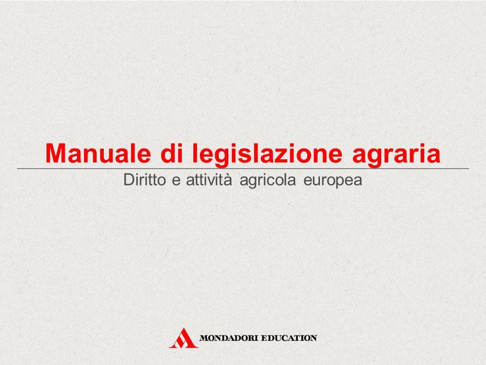 Diritto e attività agricola europea