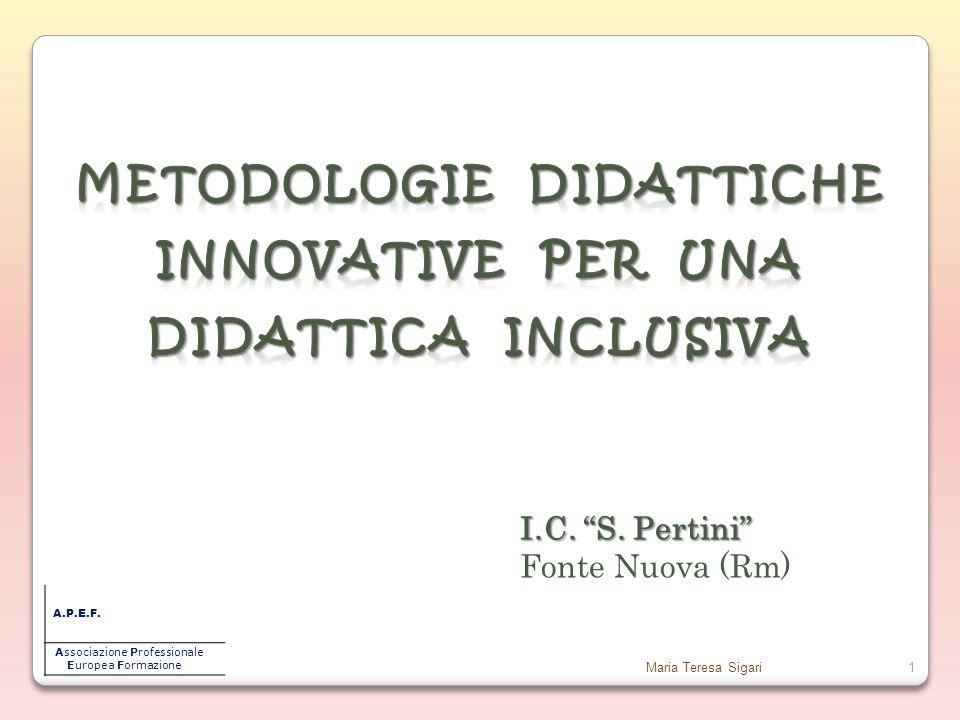 Maria Teresa Sigari1 A.P.E.F.Associazione Professionale Europea Formazione I.C.