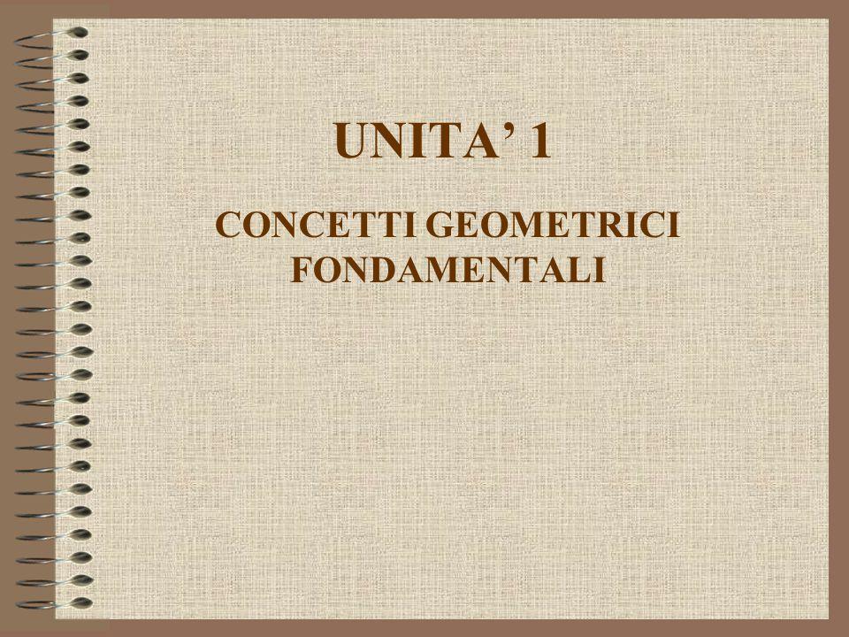 UNITA' 1 CONCETTI GEOMETRICI FONDAMENTALI