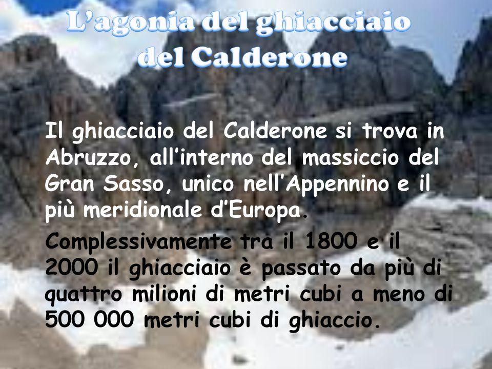 Il ghiacciaio del Calderone si trova in Abruzzo, all'interno del massiccio del Gran Sasso, unico nell'Appennino e il più meridionale d'Europa. Comples