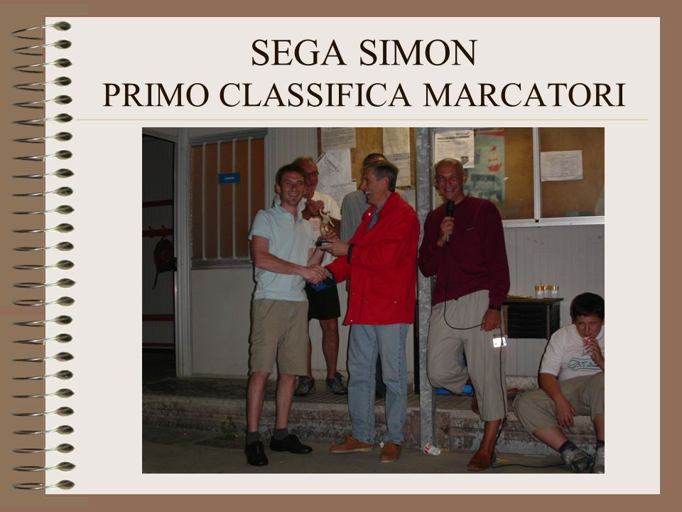SEGA SIMON PRIMO CLASSIFICA MARCATORI