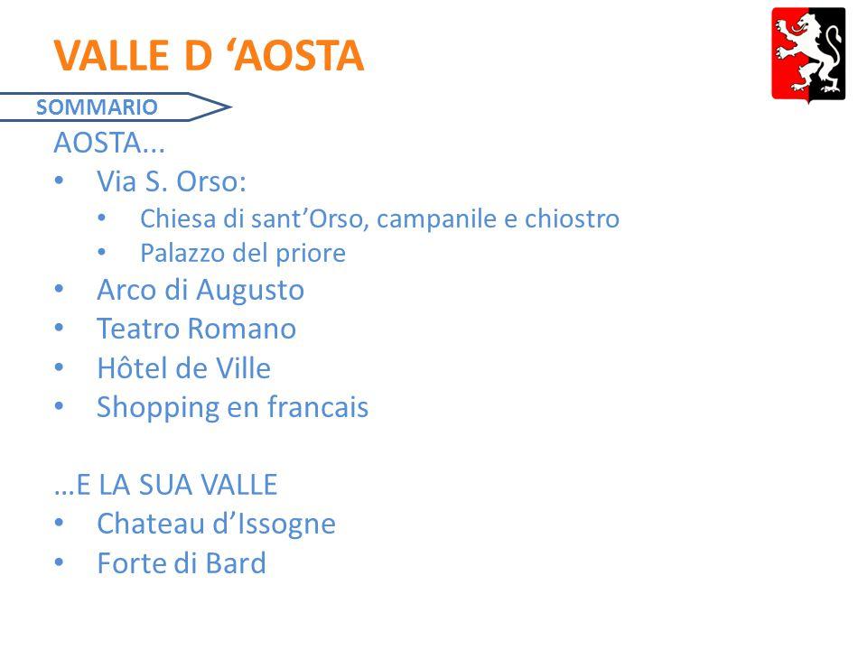 VALLE D 'AOSTA AOSTA...Via S.