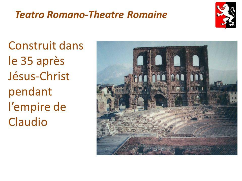Teatro Romano-Theatre Romaine Construit dans le 35 après Jésus-Christ pendant l'empire de Claudio