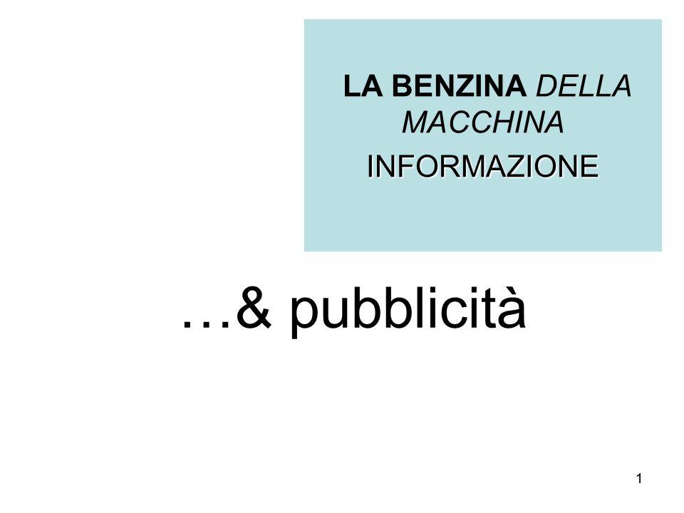 11 …& pubblicità LA BENZINA DELLA MACCHINAINFORMAZIONE