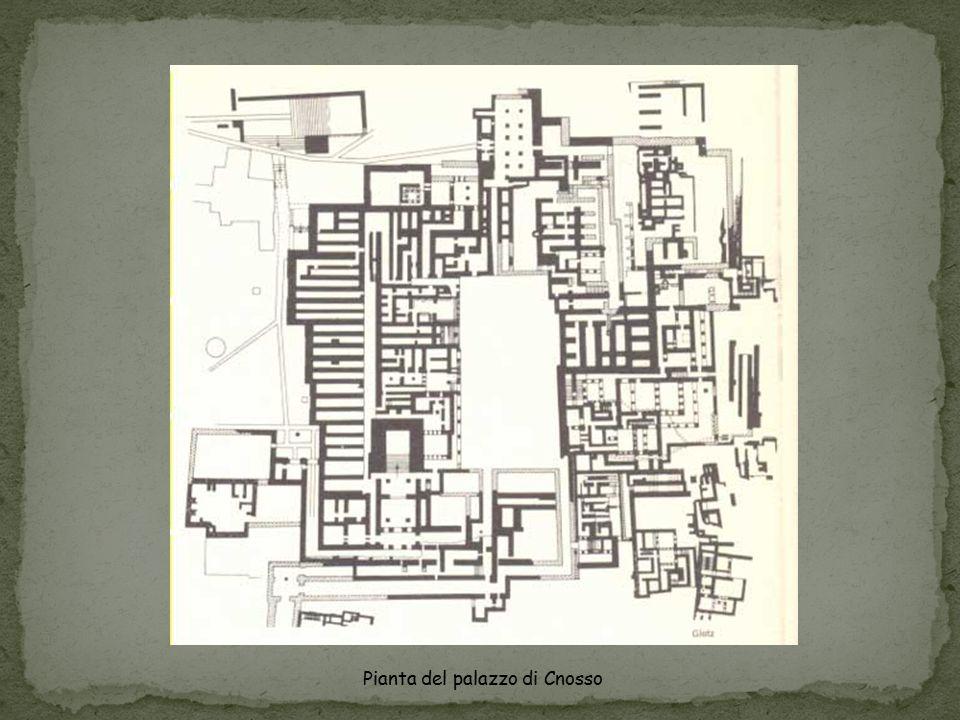 Pianta del palazzo di Cnosso