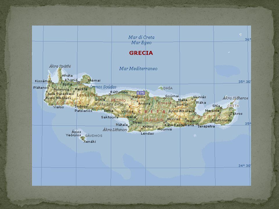Creta è per superficie la quinta isola del Mar Mediterraneo.
