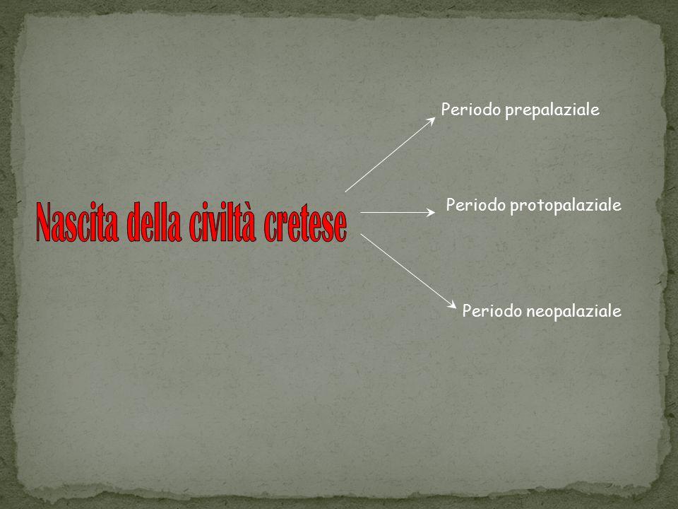 Periodo prepalaziale Periodo protopalaziale Periodo neopalaziale