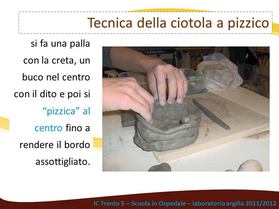 """IC Trento 5 – Scuola in Ospedale – laboratorio argilla 2011/2012 si fa una palla con la creta, un buco nel centro con il dito e poi si """"pizzica"""" al ce"""