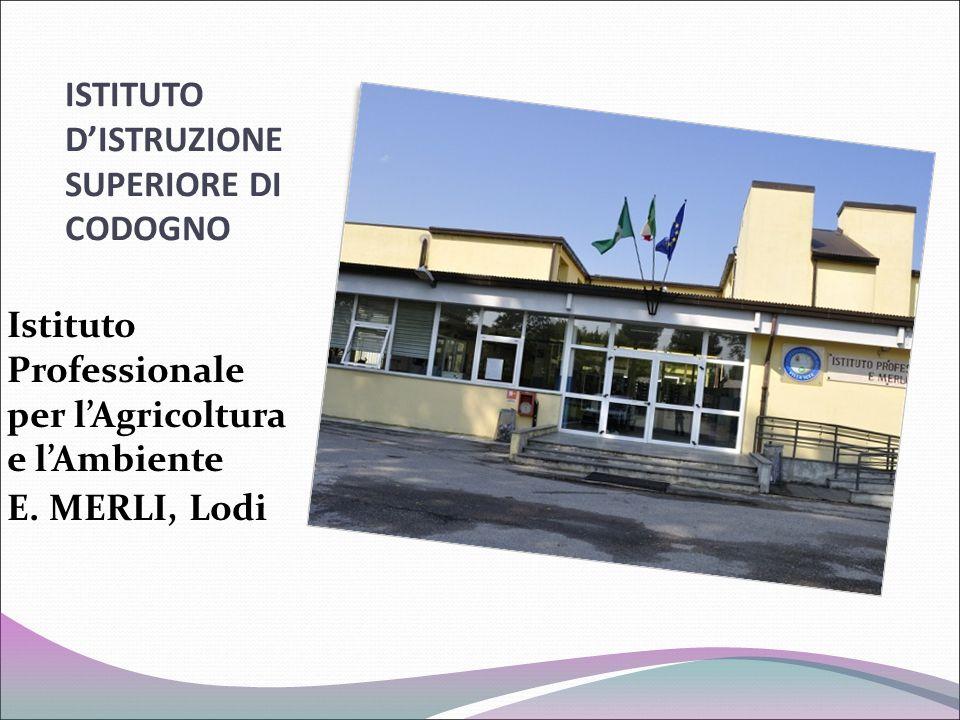 ISTITUTO D'ISTRUZIONE SUPERIORE DI CODOGNO Istituto Professionale per l'Agricoltura e l'Ambiente E. MERLI, Lodi