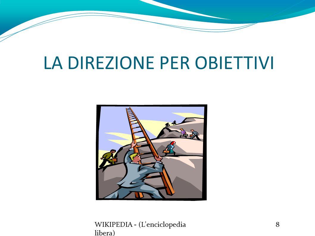 LA DIREZIONE PER OBIETTIVI WIKIPEDIA - (L enciclopedia libera) 8