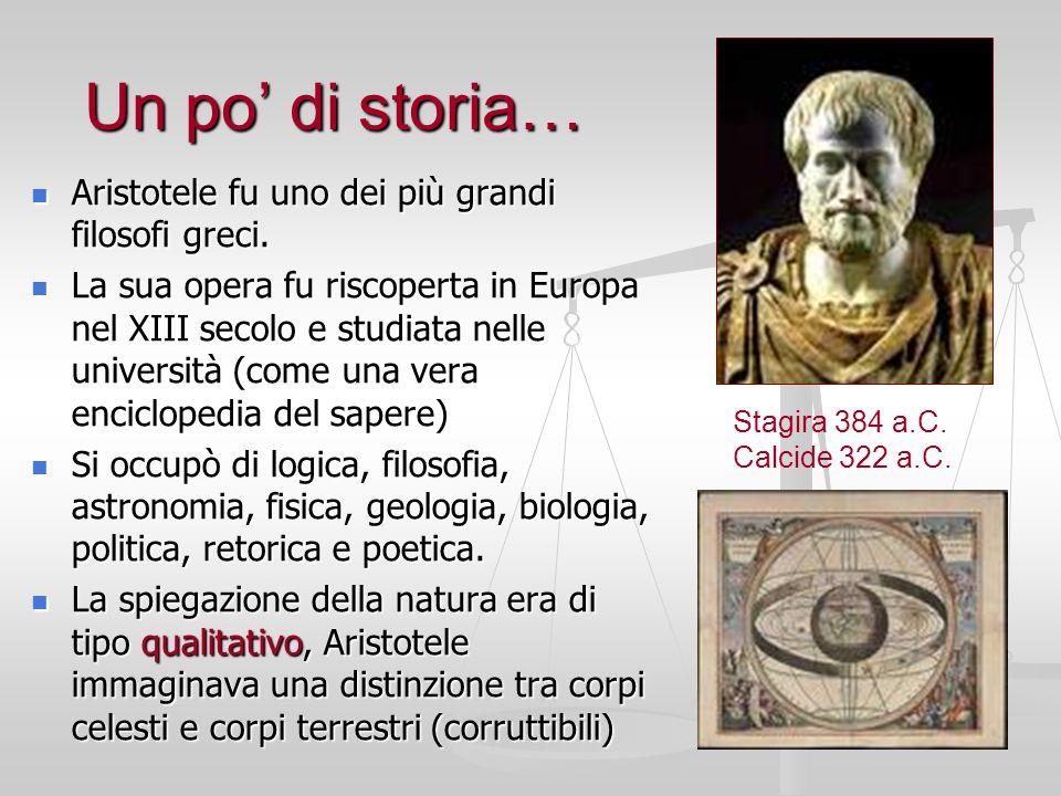 Un po' di storia… Aristotele fu uno dei più grandi filosofi greci.