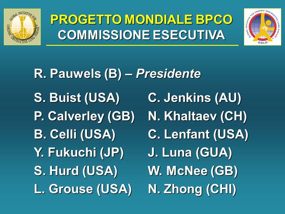 PROGETTO MONDIALE BPCO COMMISSIONE ESECUTIVA R. Pauwels (B) – Presidente S.