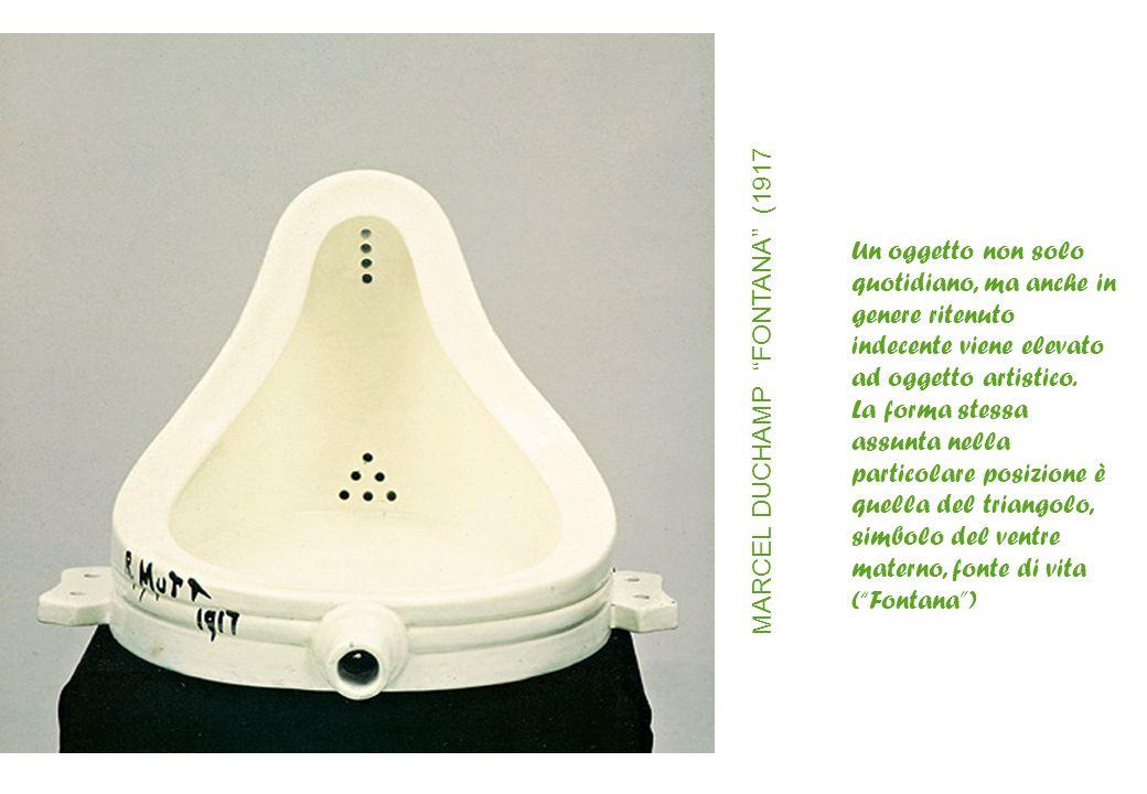 Un oggetto non solo quotidiano, ma anche in genere ritenuto indecente viene elevato ad oggetto artistico. La forma stessa assunta nella particolare po
