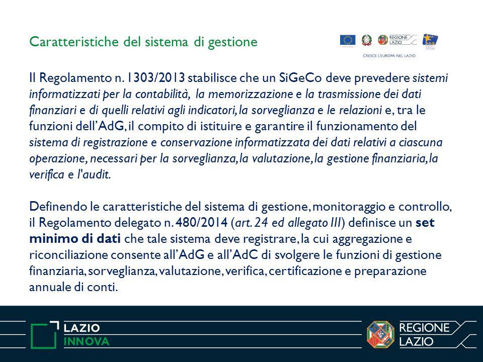Specifiche tecniche Il Regolamento di esecuzione (UE) n.