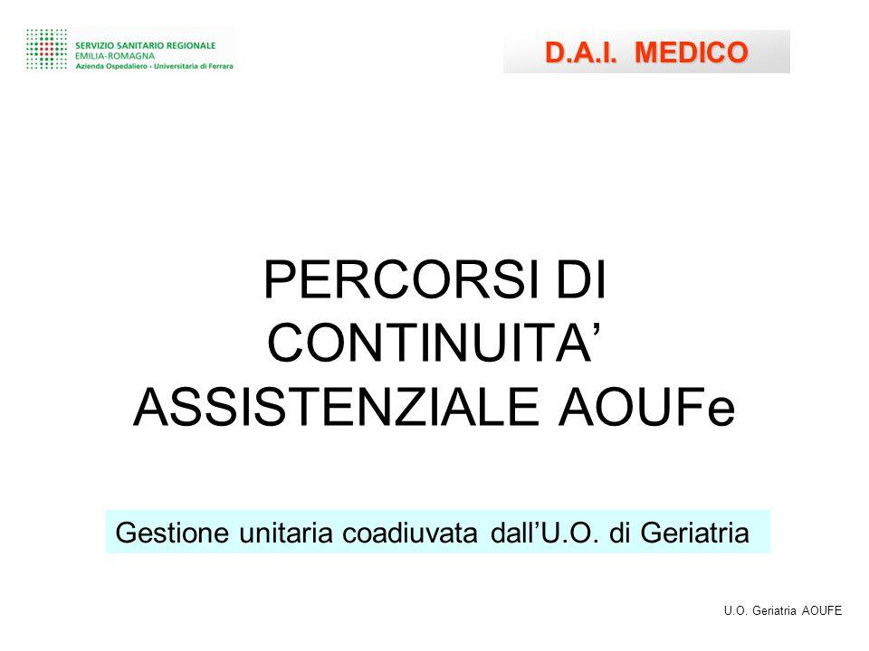 PERCORSI DI CONTINUITA' ASSISTENZIALE AOUFe D.A.I.