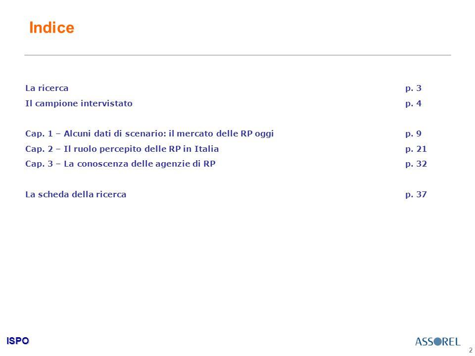 ISPO 2 Indice La ricercap. 3 Il campione intervistatop.