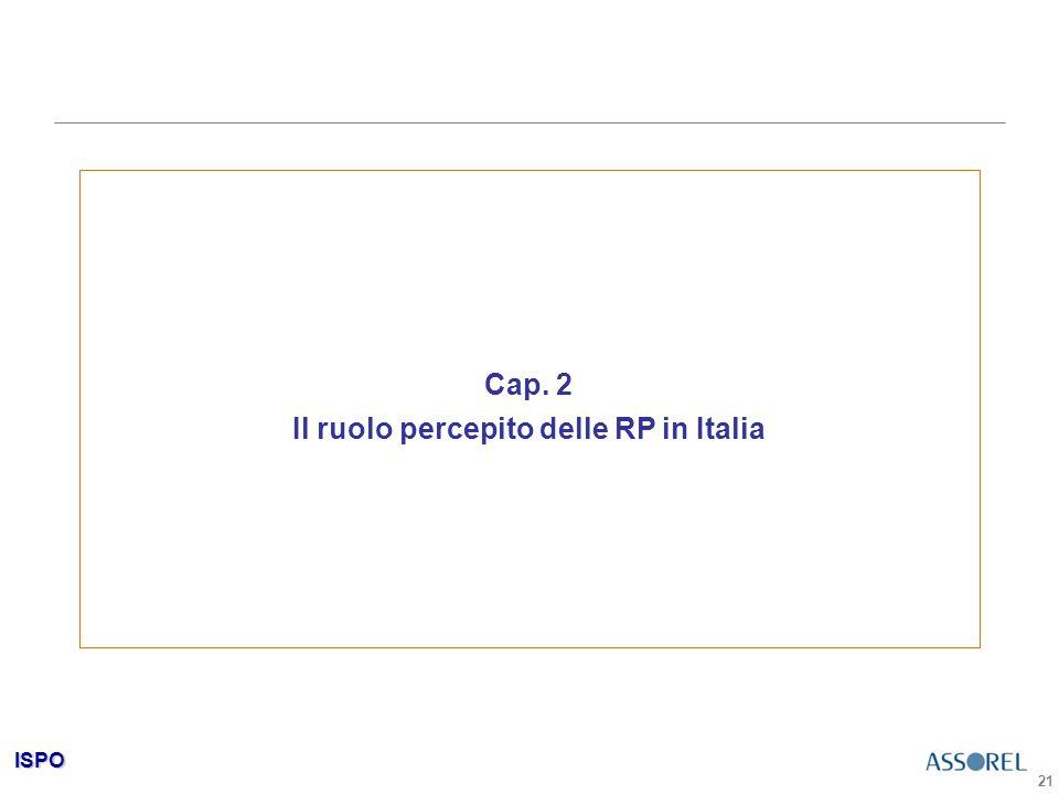 ISPO 21 Cap. 2 Il ruolo percepito delle RP in Italia