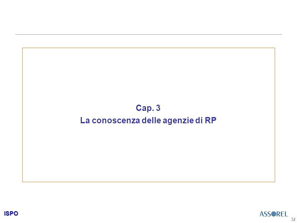 ISPO 32 Cap. 3 La conoscenza delle agenzie di RP