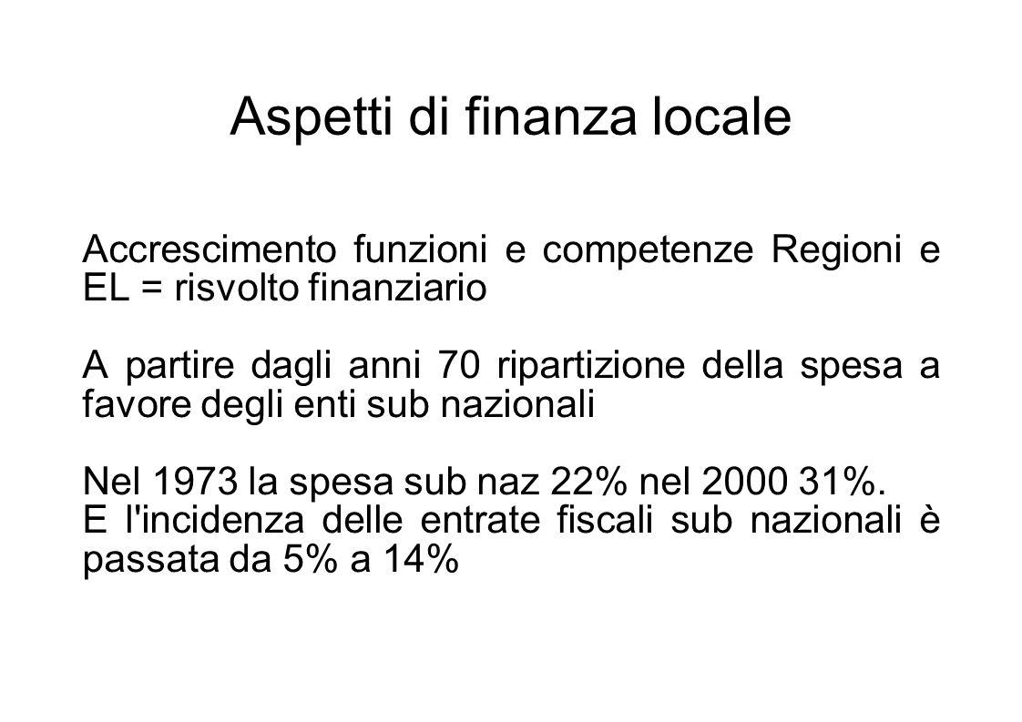 La spesa è fortemente concentrata a livello regionale (trasferimenti monetari) Comuni e regioni erogazione servizi (finanziati localmente e FNPS) Il fondo istituito nel 1997 e ha costituito fonte di grande razionalizzazione del sistema