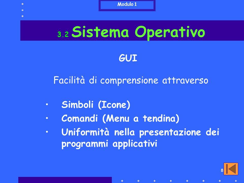 9 3.3 Software applicativo Applicazioni principali Office Automation Desktop Publishing Applicazioni multimediali Applicazioni per la comunicazione Modulo 1